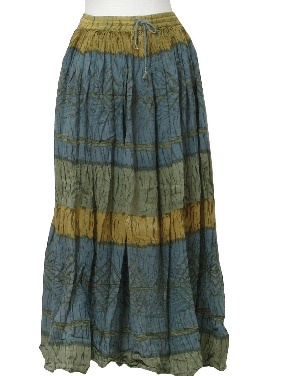 89565a6173 1980s Skirts For Women | Retro 1980's Hippie Skirt (Review) : 80s -Review-  Womens shaded blue .