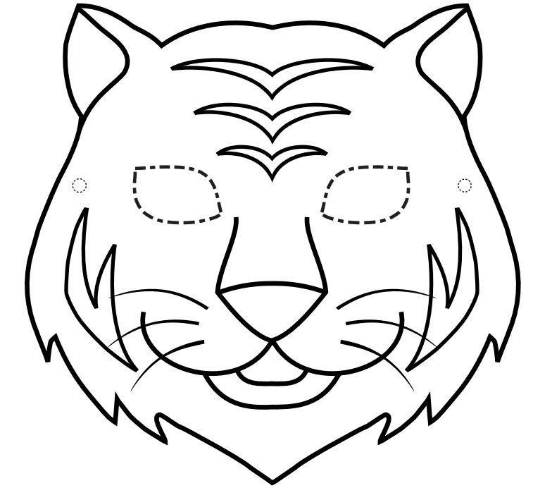 Resultado de imagem para mascara de tigre para imprimir | TRABALHOS ...
