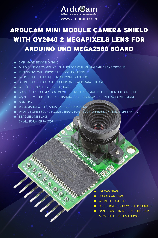 2mp Ov2640 Mini Module Spi Camera For Arduino Uno Mega2560 Board