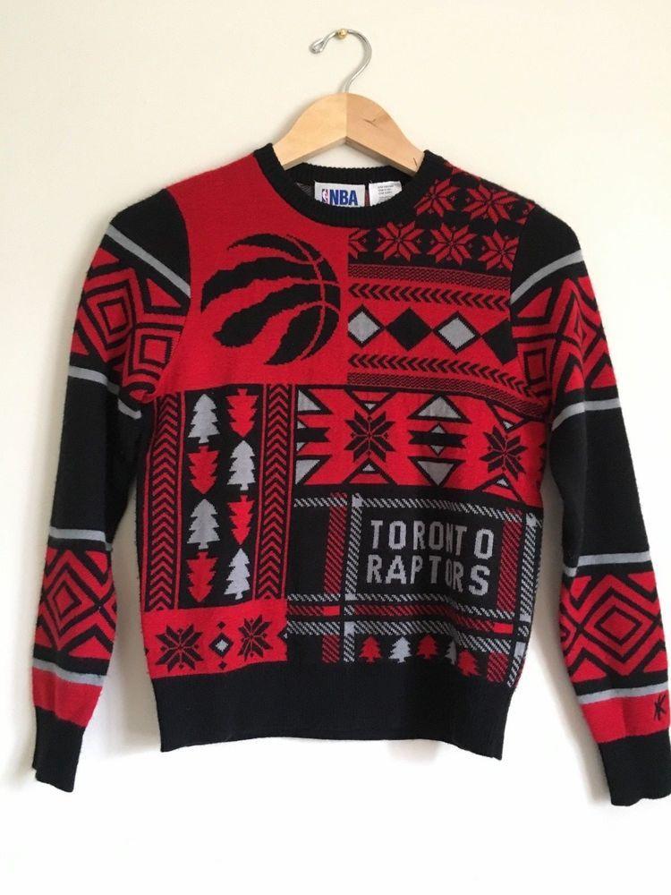 df35a7e0d NBA Toronto Raptors Basketball Boys Ugly Christmas Sweater Knit Sz Medium  10-12  NBA  TorontoRaptors