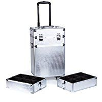 6fcc009e42f Trolley Maleta de Maquillaje Profesional Maletín de Maquillaje Beauty Case  Organizador de Cosméticos,Plateado: