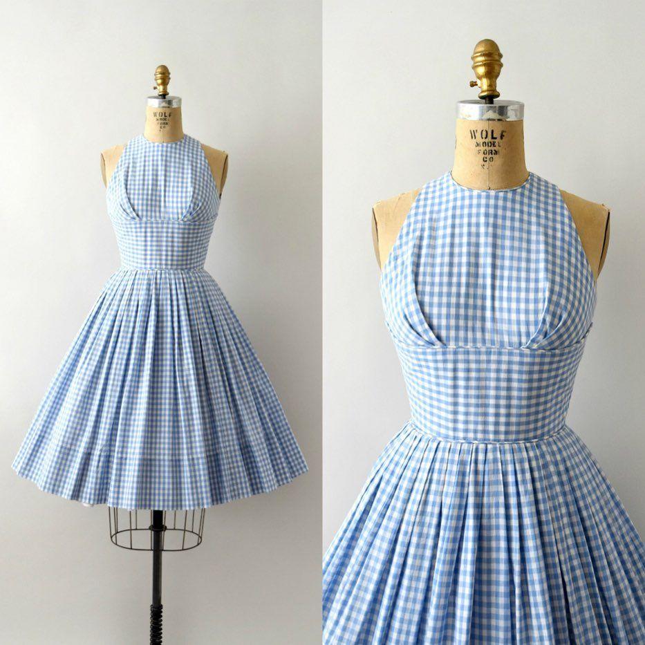 Sweet Bee Finds On Instagram Sold Sold Vintage 1950s Sundress Blue Gingham Cotton Fi Vintage 1950s Dresses 1950s Fashion Dresses Vintage Summer Dresses [ 933 x 933 Pixel ]