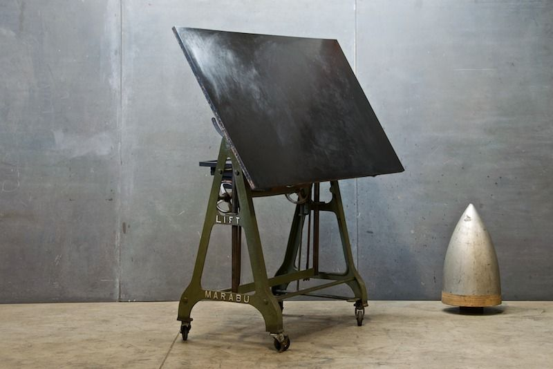 Amazing 1930s German Design Drafting Table : 20th Century Vintage Industrial  Brought To You By Modern50 .