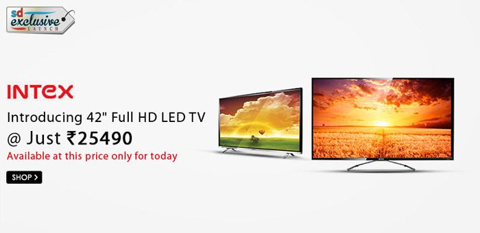 55275826a56 Most affordable! Buy Intex 42 inch Full HD LED Television (LED-4200FHD) + 3  Year Warranty for Rs 25