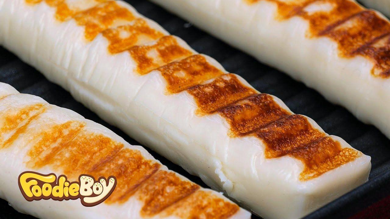 모짜렐라 치즈구이 / Grilled Mozzarella Cheese - Korean Street Food / 경기 광명시장 길거리 음식