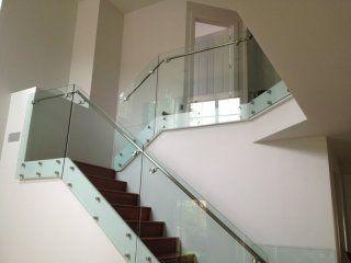 Sistem desain Modern rumah balkon stainless steel pagar kaca