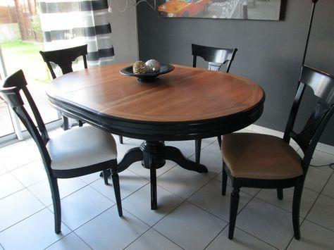 relooking d 39 une table louis philippe et chaises deco pinterest table furniture projects. Black Bedroom Furniture Sets. Home Design Ideas