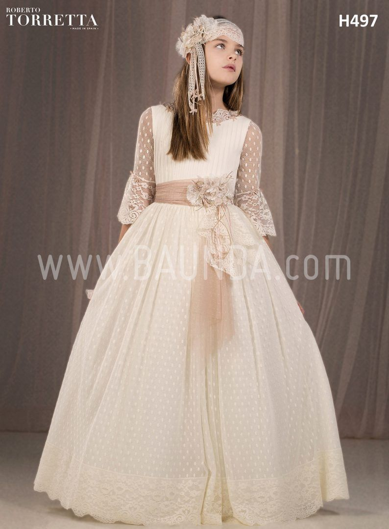 8f3109a3a6 Baunda Communion dress spanish design Roberto Torretta 2018 H497 Madrid