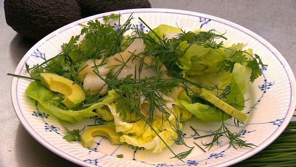 Grøn salat med urter