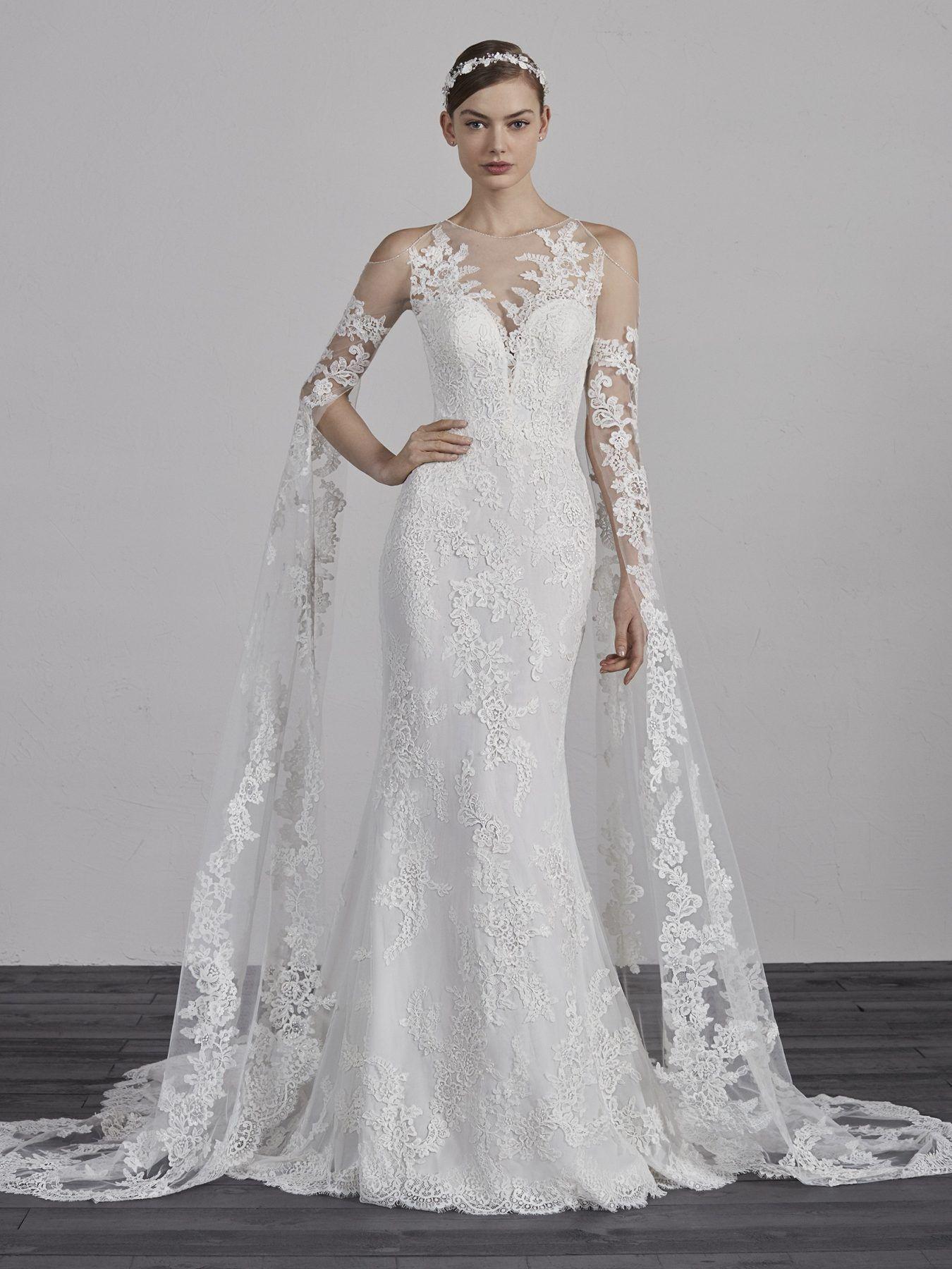 Long Sleeve Lace Illusion Cold Shoulder Mermaid Wedding Dress Pronovias Style Eriadu Wedding Dress Long Sleeve Ball Gowns Wedding Pronovias Wedding Dress