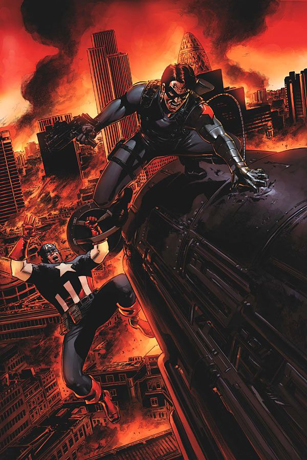 Captain America vs. Winter Soldier by Steve Epting aka the