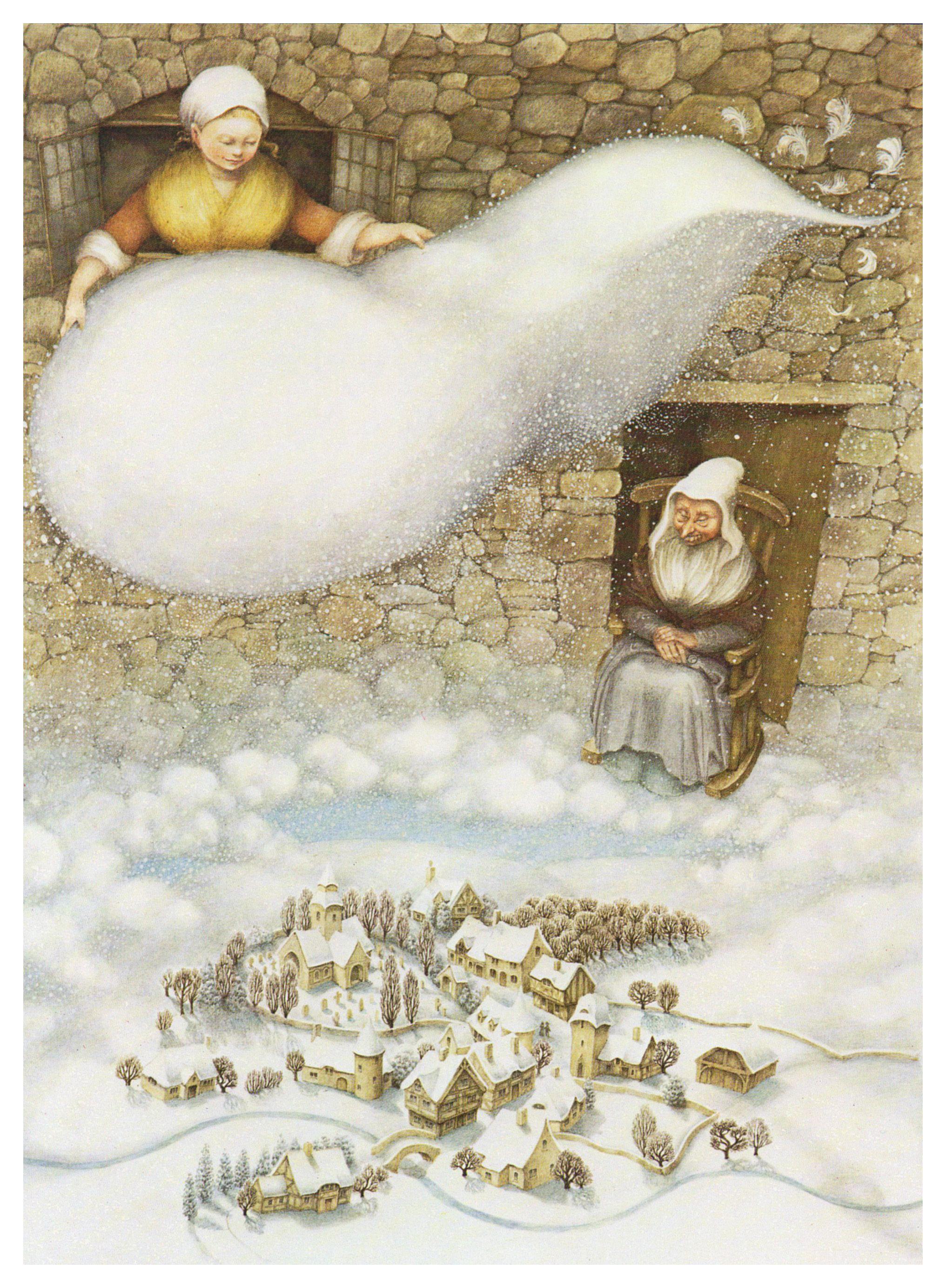 frau holle illustrationen  illustration märchen kunst