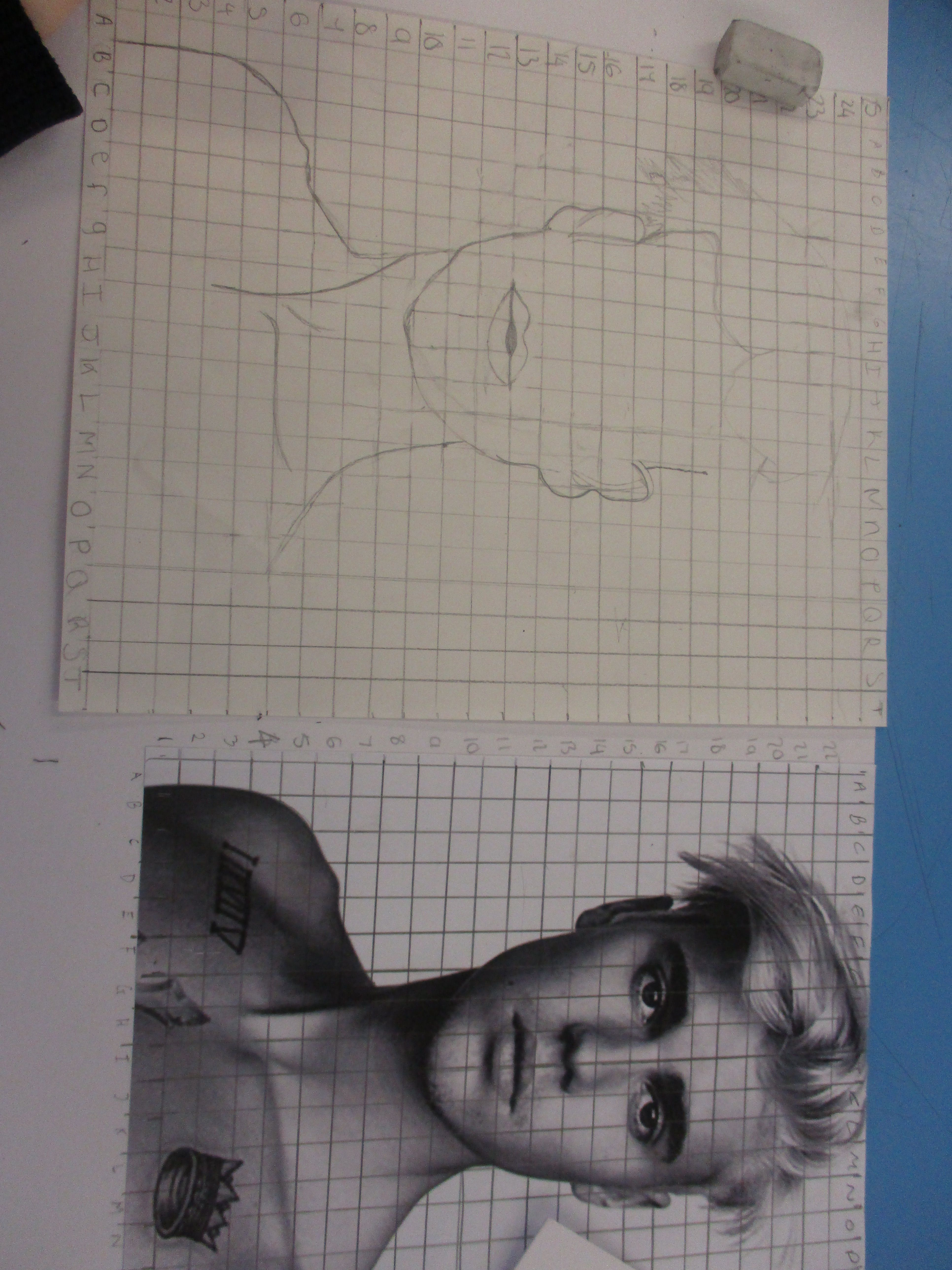 Tonal Drawing Of Portraits Using The Grid Method