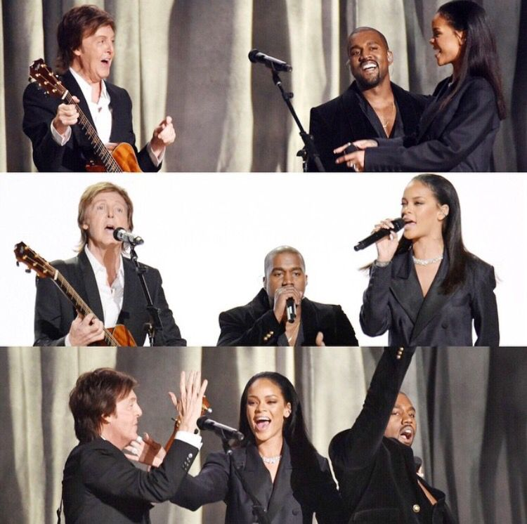 Rihanna X Kanye West X Paul Mccartney Performance X Four Five Seconds Rihanna Paul Mccartney Kanye West