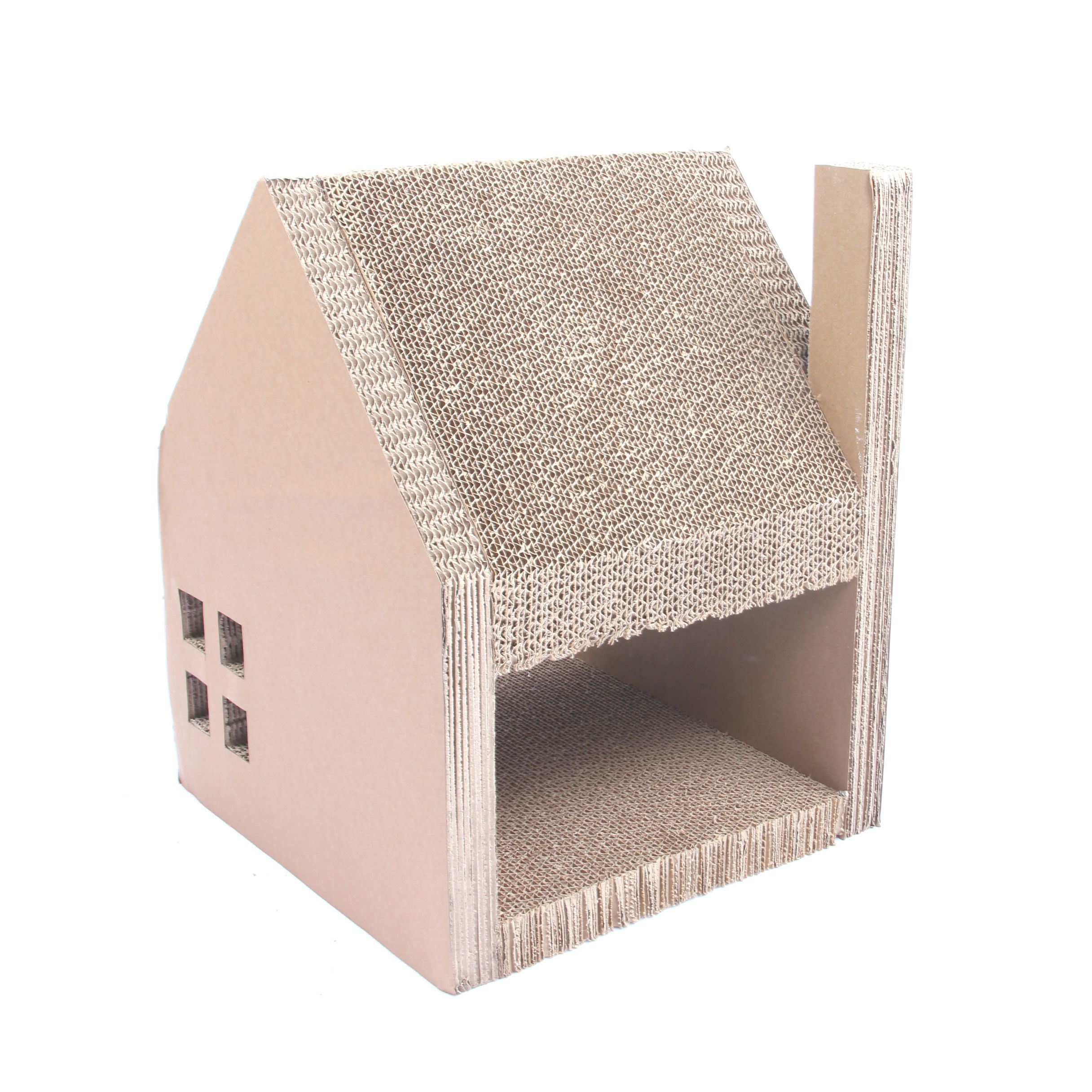 Cardboard House For Cats Corrugated Cardboard Cat House Cat Houses And Cat