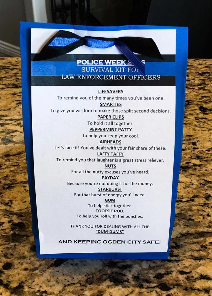 Police officer survival kit Police week 2016 Gifts for
