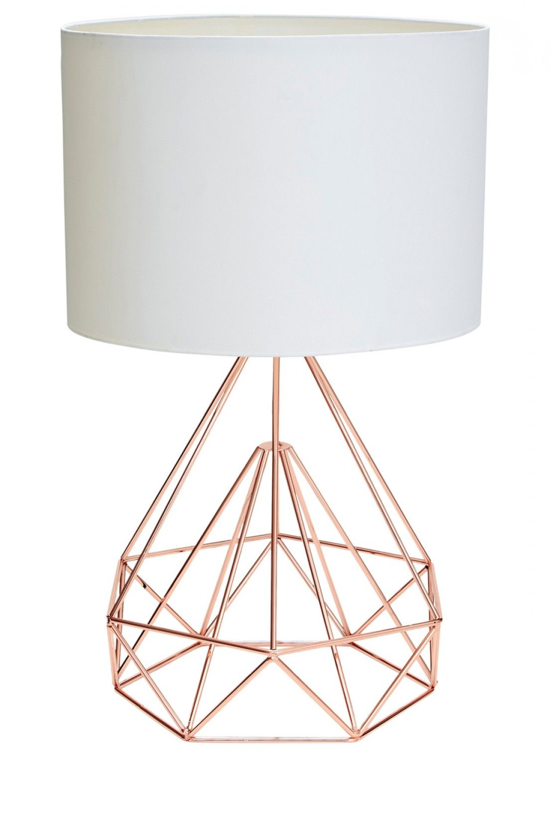 Salt and Pepper Chicago rose gold wire table lamp with ...