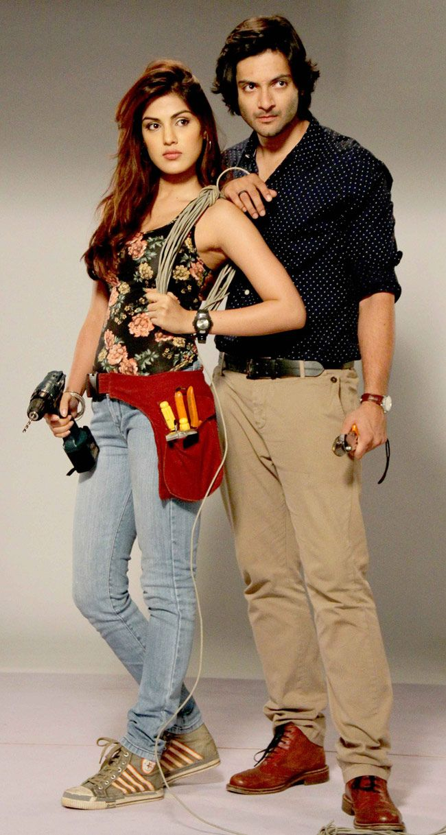 Rhea Chakraborty And Ali Fazal Posed For The Poster Shoot Of Their