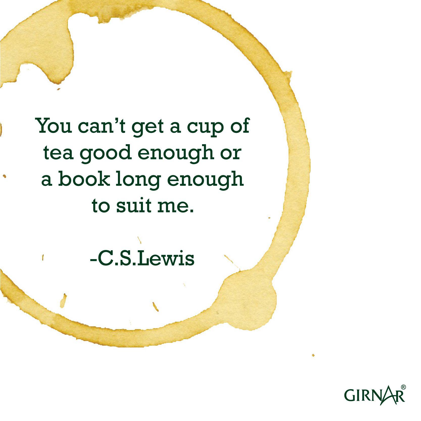 A cup of tea + A long book