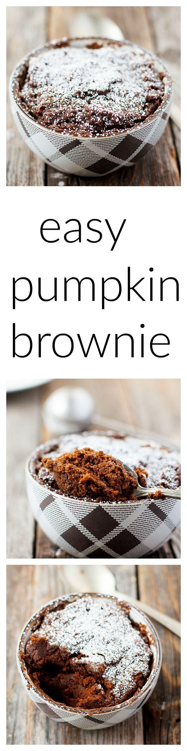 Easy pumpkin mug brownie | Recipe | Mug recipes, Pumpkin ...