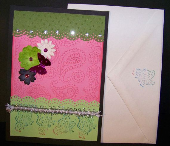 Handmade All Occasion Greeting Card or Happy by DJsCraftyCreations, $3.25