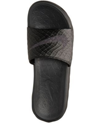 3138442bd Nike Men s Benassi Solarsoft Slide 2 Sandals from Finish Line - Gray ...  nike