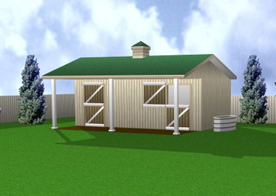 Twin stall horse barn 12 39 x 24 39 building plan for the for Equestrian barn plans