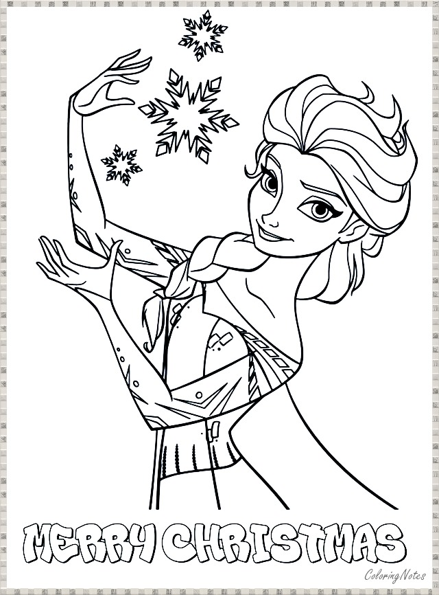 Frozen Disney Princess Christmas Coloring Pages Elsa Coloring Pages Snowflake Coloring Pages Princess Coloring Pages