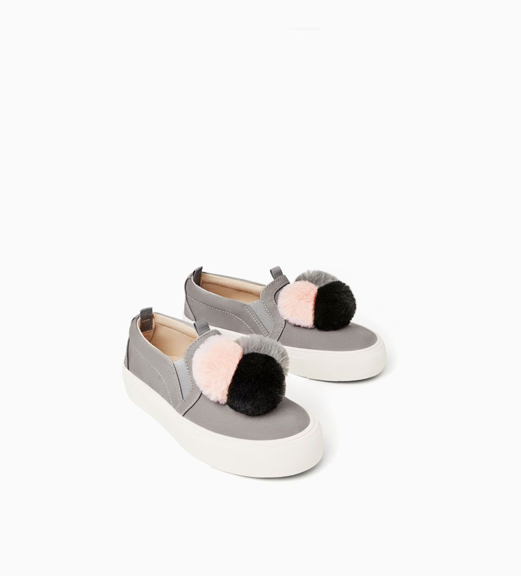 POMPOM SNEAKERS View all Zapatos  Mujer  Zapatos 4 14 years Mujer  ZARA United 63220f