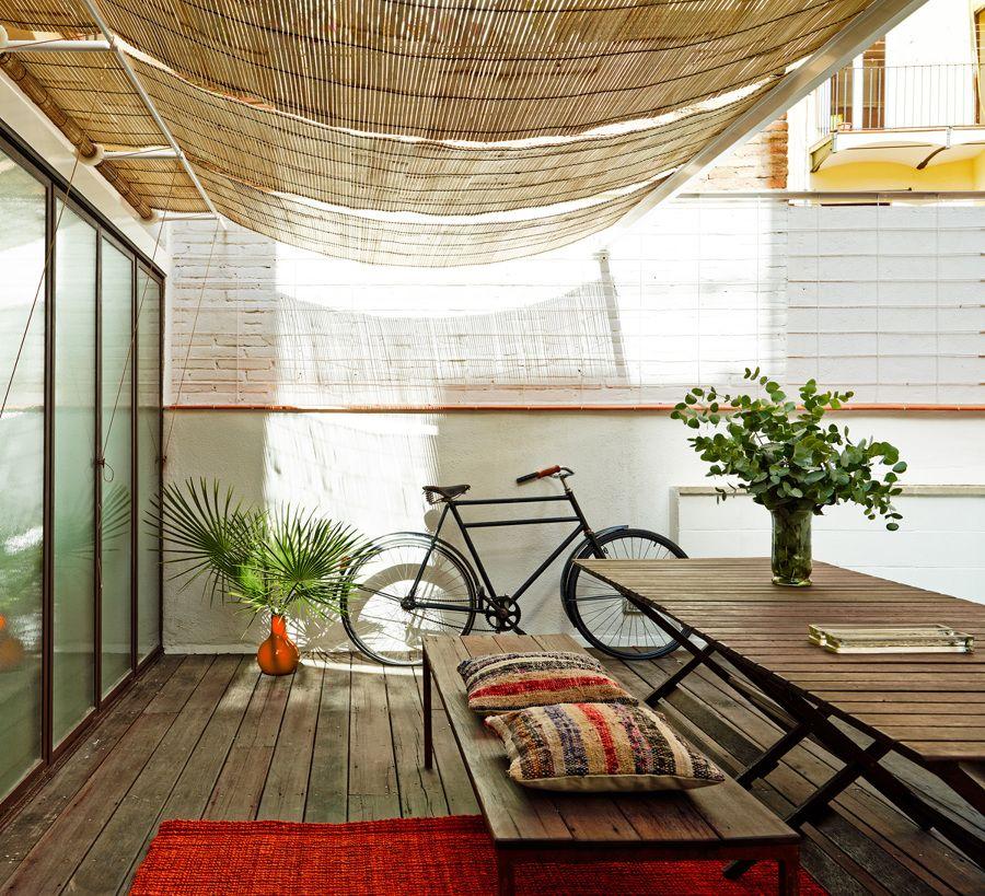 Terraza Eluminosa En Patio De Manzana Terraza Ampliacion Del Salon Una Vivienda Diseno De Terraza Decoracion De Terrazas Pequenas Jardines Interiores Casa