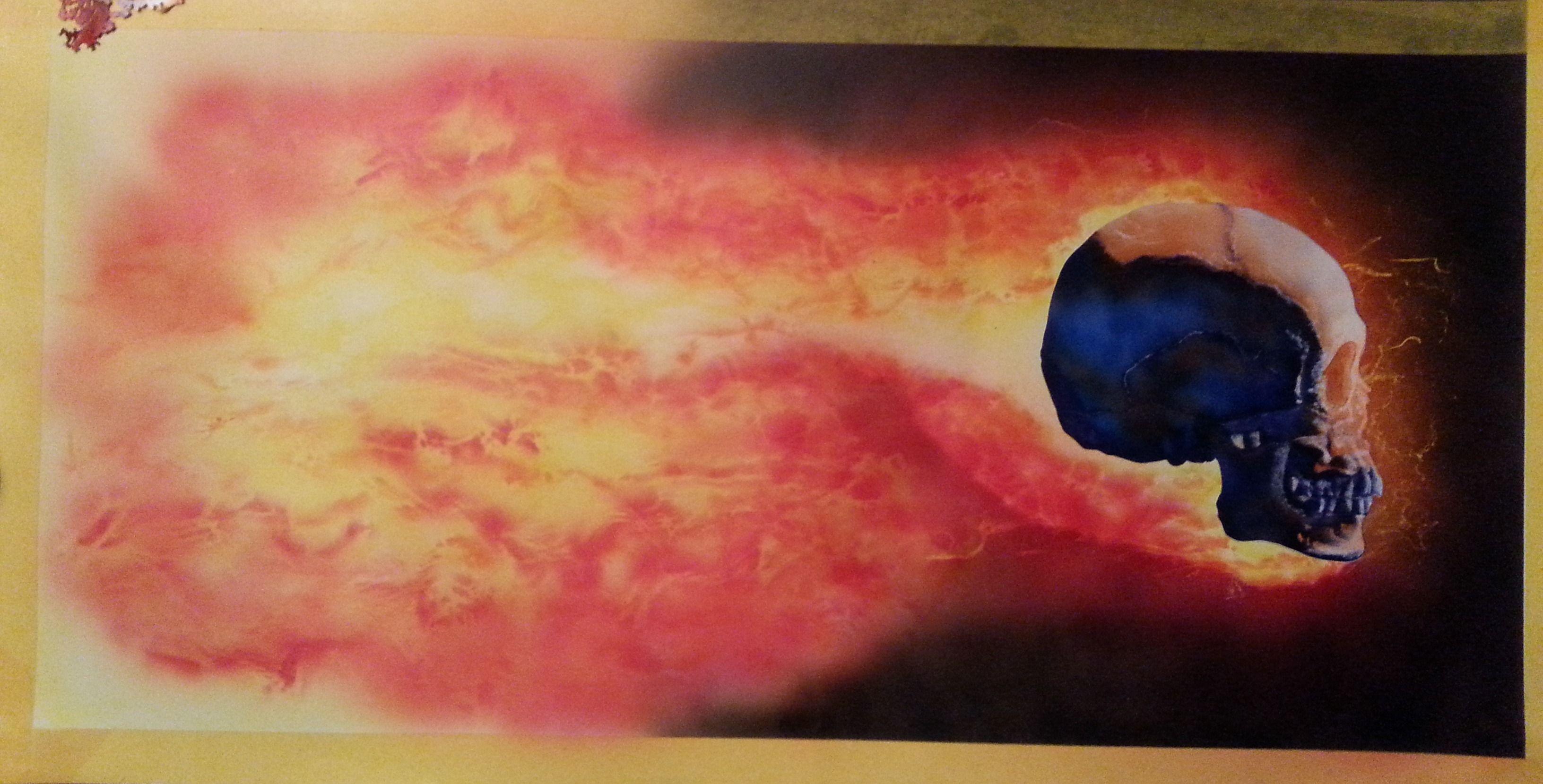 Skull with flames ( Dru Blair ) #9 (06.05.14) Étac. Schoelershammer paper. HS Infinity