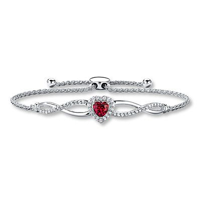 43452df6d Bolo Bracelet Lab-Created Ruby Sterling Silver | Products | Silver ...
