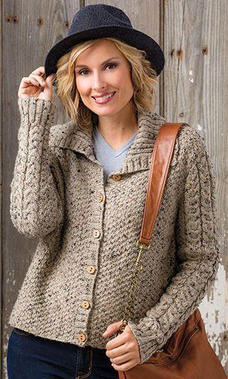 9b02a3ac67cd Knitting Pattern Around Town Cardigan -  ad Long sleeved cardigan ...