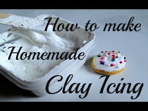 How to make Homemade Clay Pastry Icing / Frosting - Tutorial #icingfrosting
