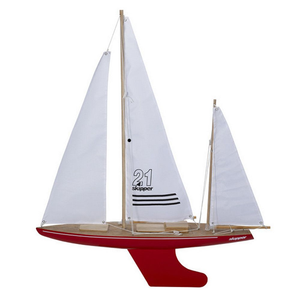Red Toy Sailing Yacht