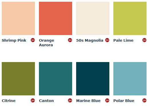 Mad for mid century mid century paint colors from england for Modern exterior colours
