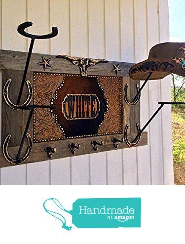 679a1cf6 American Made PERSONALIZED Cowboy Hat Holder Coat Rack Reclaimed Wood with  Longhorn and Horseshoes &