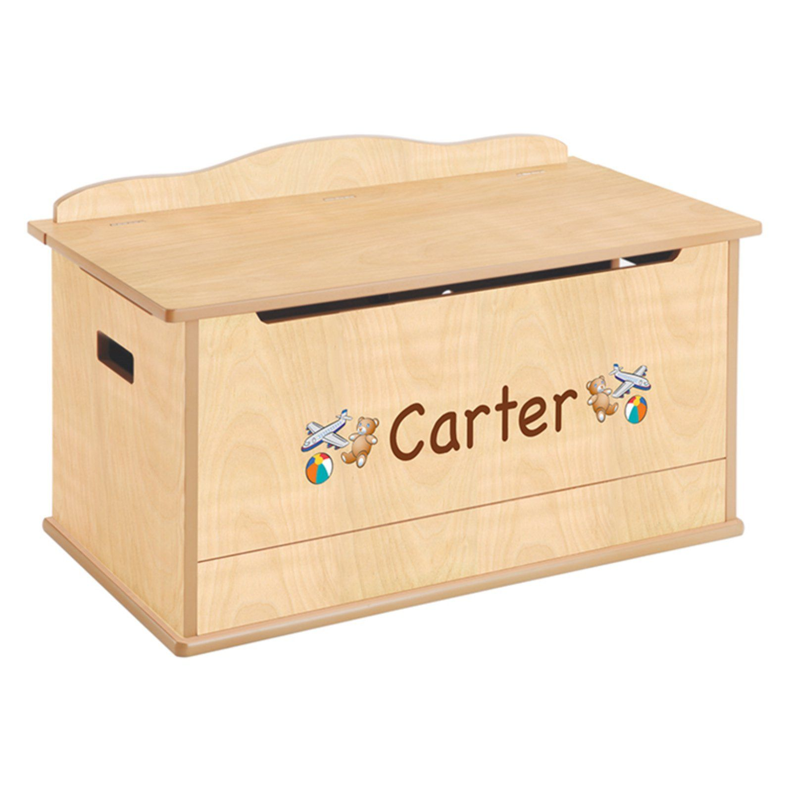 Excellent Guidecraft Expressions Natural Toy Box With Personalization Dailytribune Chair Design For Home Dailytribuneorg