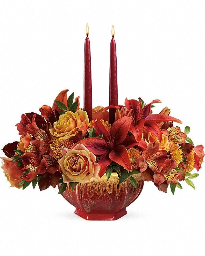 Bounty Of Beauty Centerpiece Thanksgiving flowers
