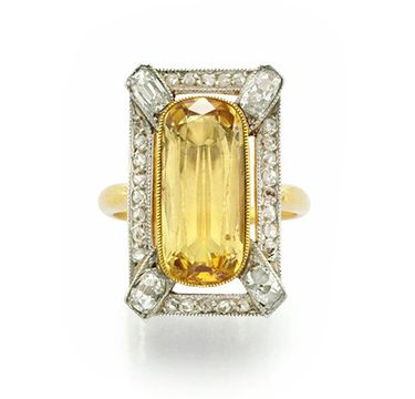 An Imperial Topaz And Diamond Ring By Bailey Banks Biddle Topaz Jewelry Imperial Topaz Amazing Jewelry