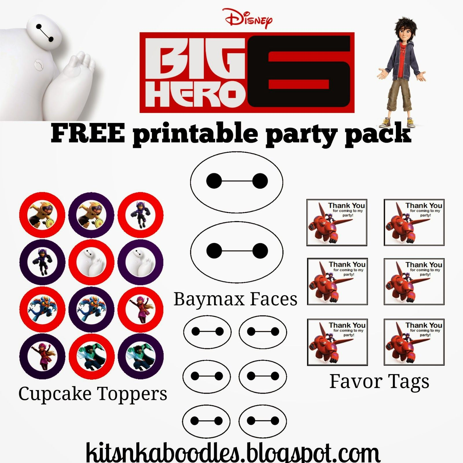 The Kits N Kaboodles Blog Big Hero 6 Free Party Pack