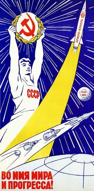 No nome da paz e do progresso! | Propaganda comunista, Cartazes políticos,  União soviética