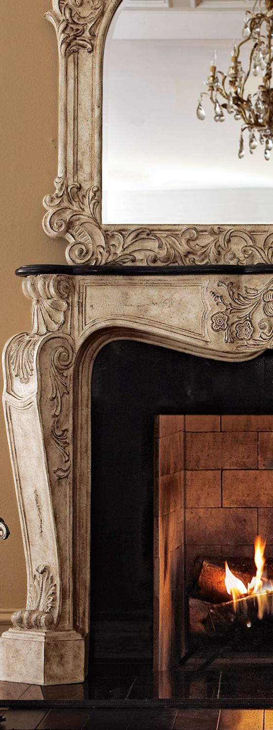 Ambella French Fireplace Mantel French Country Decorating French Fireplace Country Fireplace