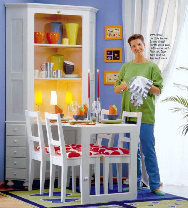 eckschrank mit tisch bauen eckschrank holzarbeiten und esstische. Black Bedroom Furniture Sets. Home Design Ideas