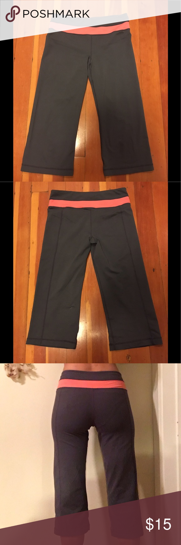 93c7b059cf33 Gray and pink NWOT workout leggings I believe these are Champion brand  purchased at Target. No tag so not 100% certain. Pink trim on gray. NWOT.  Well made.