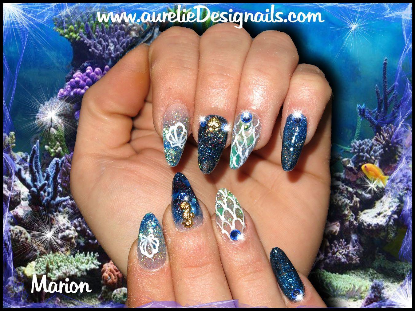 pose en résine bleue , nail art gel paint | Nails Art | Pinterest ...