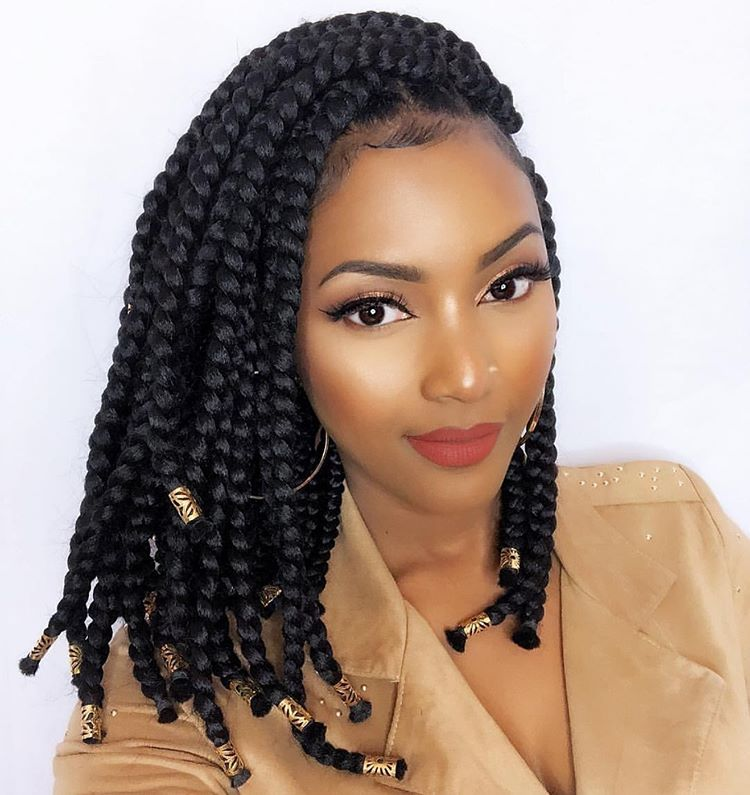 """Renewed Hair Co on Instagram: """"Winter is the perfect time for a good protective style. We ❤️ these bob box braids style on @jessbeautydesigner ❄️ What are your Go-To…"""""""