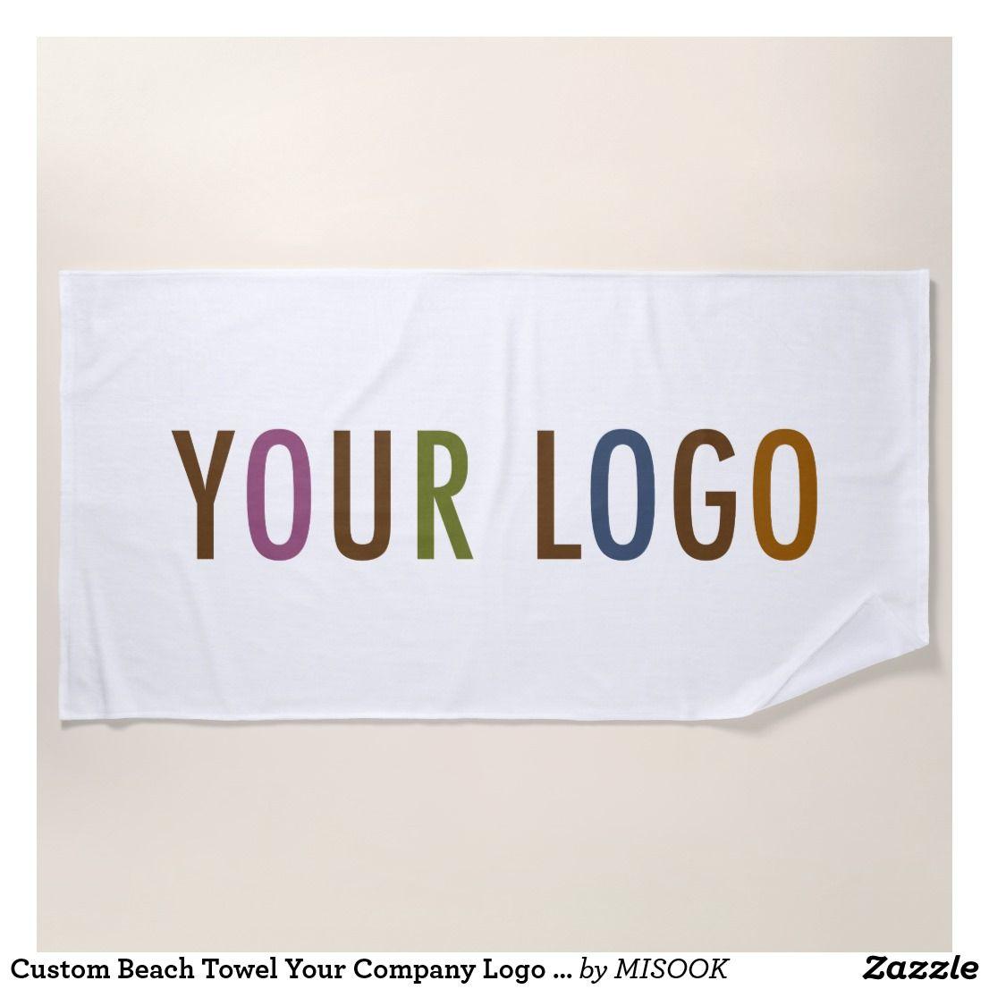 Custom Beach Towel Your Company Logo No Minimum Zazzle Com With