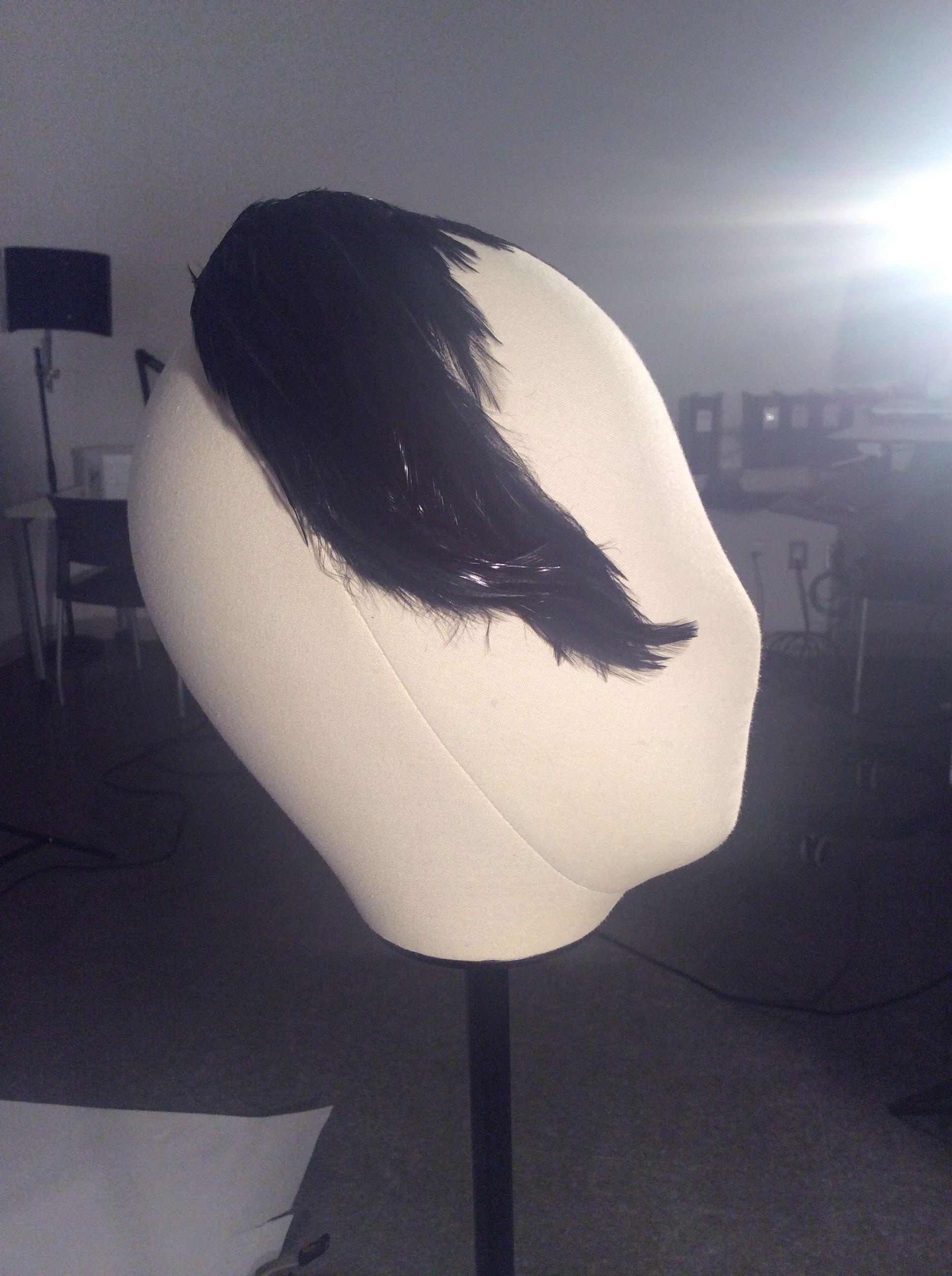 1950s feather headband