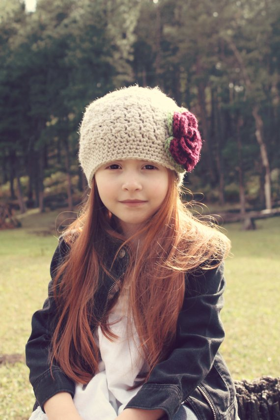 Girls Crochet Hat   Girls Winter Hat   Baby Girl Hat   Girls Christmas Hat    Crochet Baby Hat   Girl 4ce2a1f224c